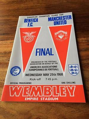 Manchester United V Benfica 1968 European Cup Final Programme Mint Free Postage