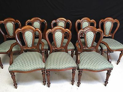 Sets 10, 12, 14, 16, 18 Victorian Style Balloon Back Chairs French Polished.
