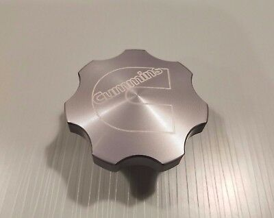 Anodized Billet Oil Cap for Dodge Cummins 24V FREE USA Shipping! Gray