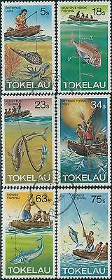 Tokelau 1982 SG85-90 Fishing Methods set FU