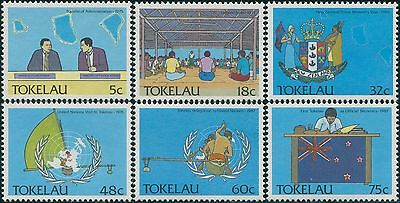Tokelau 1988 SG159-164 Political Development set MNH