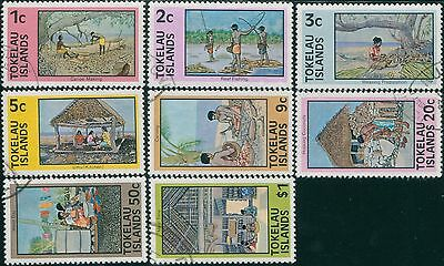 Tokelau 1976 SG49-56 Local Life set FU