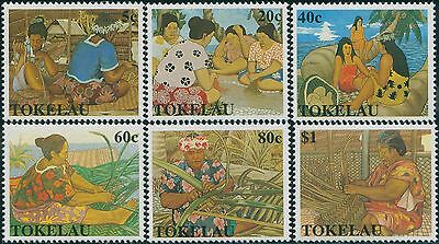 Tokelau 1990 SG177-182 Women's Art set MNH