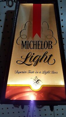 Vintage Michelob Light Beer Bar Light Signs
