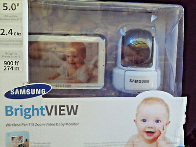 Samsung Bright View Wireless Pan Tilt Zoom Baby Monitor SEW-3043W
