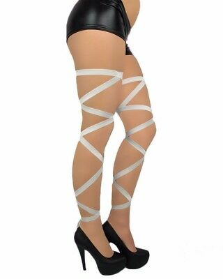 IHeartRaves Non-Slip White Leg Wraps Previously Owned