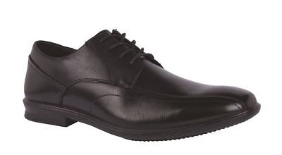 Mens HUSH PUPPIES CODY Black EXTRA WIDE FORMAL/DRESS/WORK/CASUAL/LEATHER SHOES
