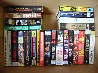 Large Lot of 52 Mystery, Thriller, Suspense Paperbacks Best Sellers FREE SHIPPIN