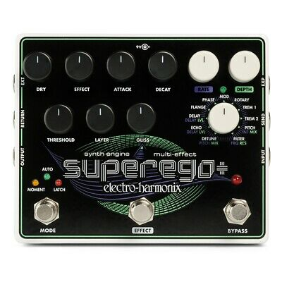 Electro-Harmonix EHX Superego+ Plus Synth Engine Guitar Effects Pedal Stompbox