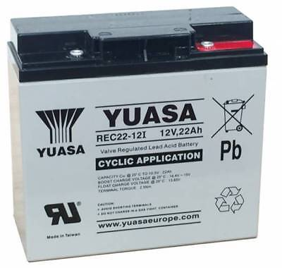 Yuasa REC22-12 Cyclic/Golf Battery 12V 22Ah