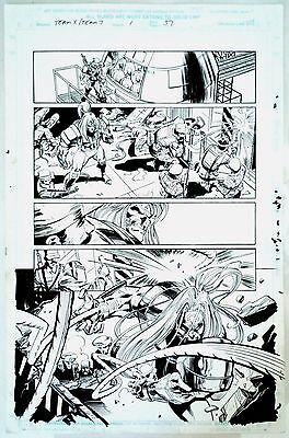 X Men : Team X/Team 7 #1 Page 37 Original Art Deathblow & Omega Red Steve Epting