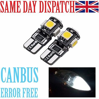 T10 Led Car Bulb Error Free Canbus 5 Smd Xenon White W5W 501 Side Light Bulbs