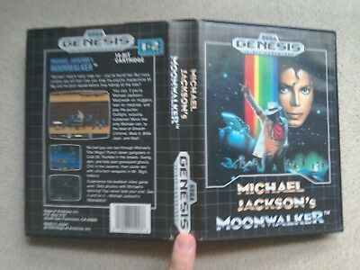 Michael Jackson's Moonwalker EMPTY BOX ONLY - For Sega Mega Drive Game (Genesis)