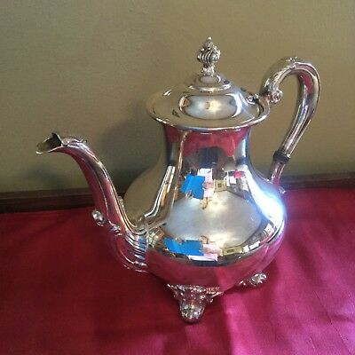REED & BARTON Regent 5600 Silverplate Teapot Tea / Coffee Pot Vintage
