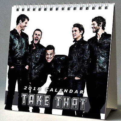 Take That Desktop Calendar 2018 + FREE GIFT 3 Stickers Back For Good The Flood