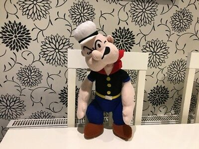 """POPEYE THE SAILOR MAN ~ Large 20"""" Soft Stuffed Toy Play By Play 1992"""