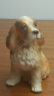 Vintage Cocker Spaniel Dog Ceramic Figurine Made in Japan About 4'' Tall