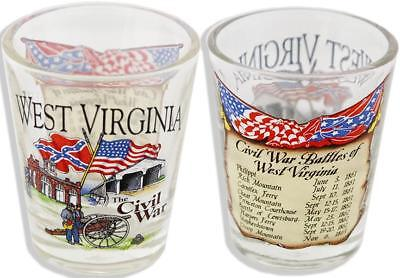 West Virginia Souvenir Shot Glass Civil War