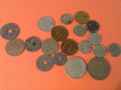 Lot of International Coins - Lot of 22 Coins - 16 coins are from WWII era