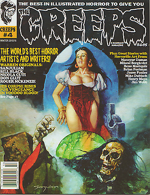 The Creeps Magazine #4 Warren Tradition,horror Monster, Comic Book, Creepy !