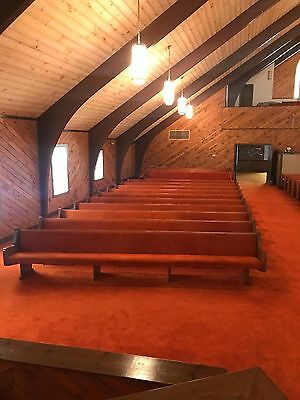 Padded Oak Church Pews in Very Good Condition