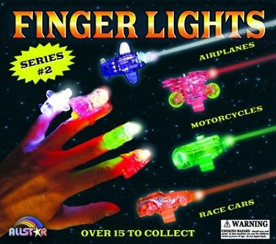 "2"" Finger Lights (250 Capsules) Vending Toys Party Favors - With Free Display"