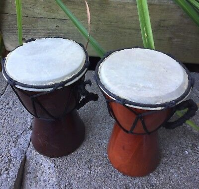 Djembe 2 Small Percussion Drum Lot