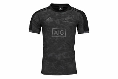 New Adidas 2018 New Zealand All Blacks Territory Rugby Performance Shirt - Large