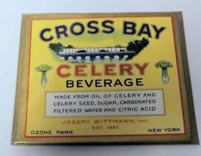 25 Vintage Cross Bay Celery Beverage Labels..Ozone Park New York