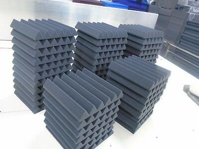 48 Tiles 12 x 12 x 2 Thick StudioFoam Acoustic Soundproofing Wedge/Pyramid Foam