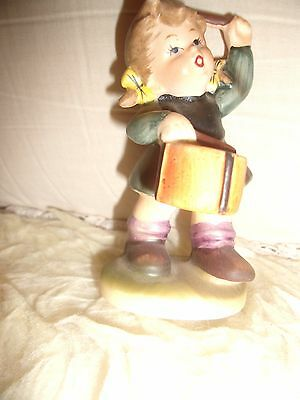 "Vintage Drummer Girl Napcoware Japan C7654 3 1/2"" Bisque Child"