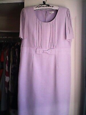 Country Casuals CC lilac dress & coat, size 16 wedding/ mother of bride wornonce