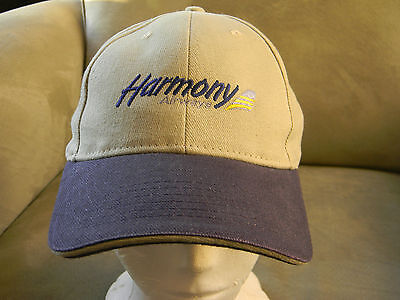 HARMONY AIRWAYS HMY AIRLINES embroidered logo adult ball cap-New
