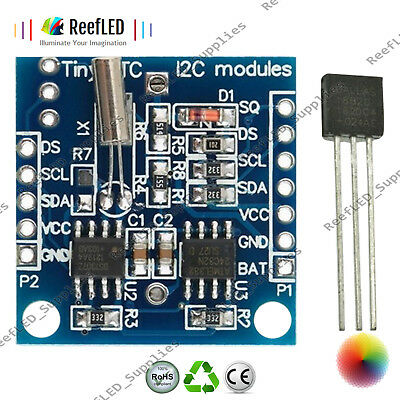 DS18B20 Temperature Sensor Module, I2C IIC RTC DS1307 AT24C32 Real Time Clock UK