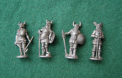 Viking Miniature Model Figures/Ornaments -Metal Unpainted - Dollhouse, War Games
