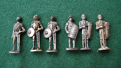 Armour Knights Miniature Model Figures/Ornaments Metal Unpainted Dollhouse Games