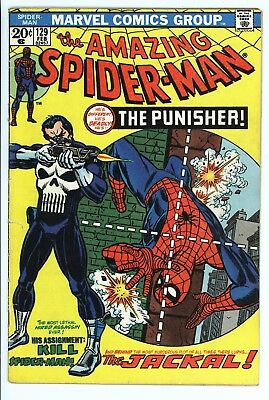 Amazing Spider-Man #129 Vol 1 Very Nice Higher Grade 1st App of the Punisher