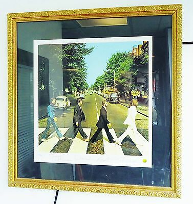 BEATLES Abbey Road ~ Album Cover Record Art FRAMED Print  Signed
