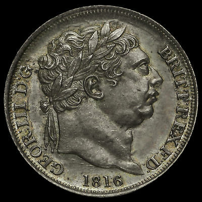 1816 George III Milled Silver Sixpence, UNC