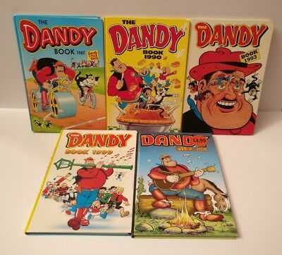 Dandy Annuals: 1987, 1990, 1993, 1999 & 2008 Pre-Owned