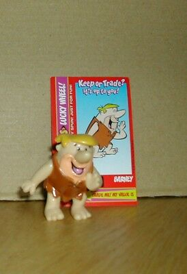 Rare Pocketoons Barney Rubble PVC Figure with Card (No 10 in Series)