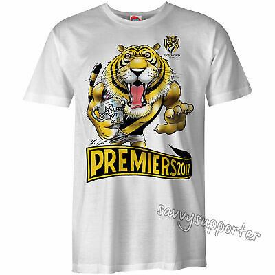 Richmond Tigers 2017 AFL Premiers Mark Knight Tee Sizes S-3XL BNWT