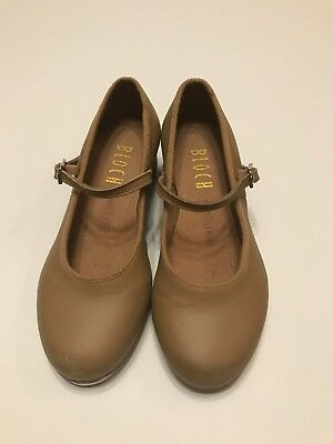 Bloch Tan Tap Shoes Leather Techno Tap Girls SZ 13