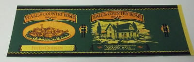 25 Vintage  Hall's Country Home Fried Chicken Can Labels..Swanton,Ohio