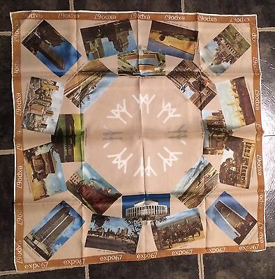 EXPO 67 Montreal Canada Worlds Fair Exhibition Vintage Scarf