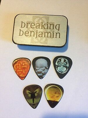 Breaking Benjamin Rare Guitar Pick Tin Set