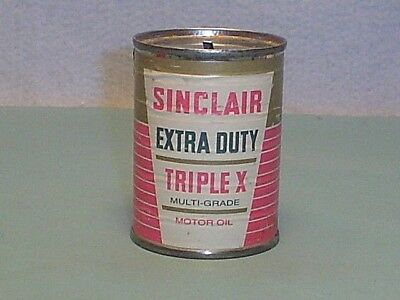 Vintage Sinclair Triple X Motor Oil Can Bank
