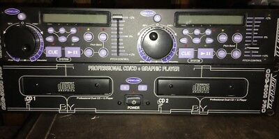 VocoPro CDG-8000Pro Karaoke Dual CD Graphic Player And Pitch Controller