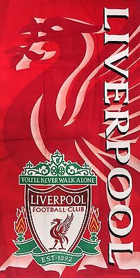 LIVERPOOL FC Beach Towel 75cm X 145cm Good Size Towel 100% Cotton