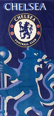 Chelsea FC Beach Towel 75cm X 145cm Good Size Towel 100% Cotton